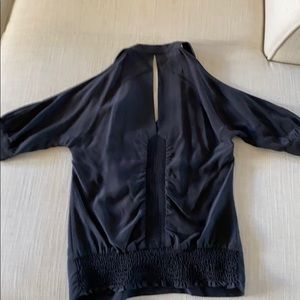 BCBG MaxAzria Cold Shoulder Rushed Top